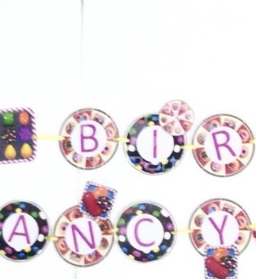 Candy Crush Happy Birthday Banner