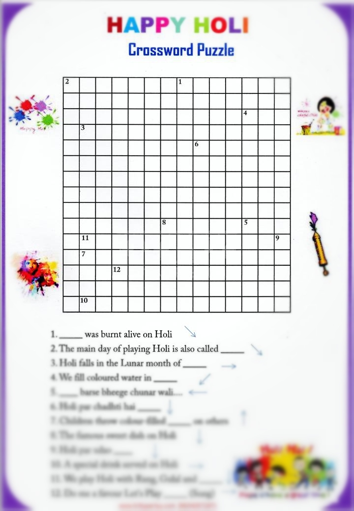 happy holi crossword puzzle game kittypartyy com