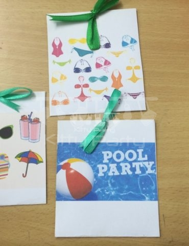 Pool Party Envelopes