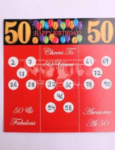 50th Birthday Tambola Tickets