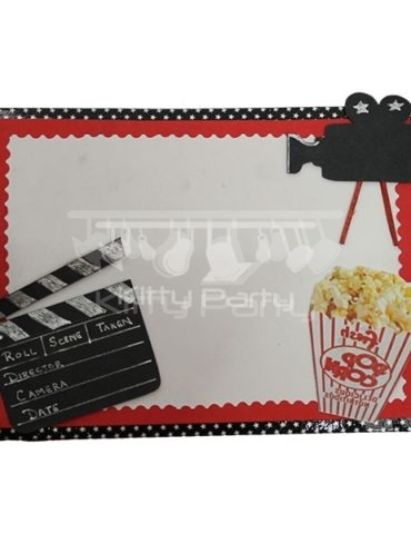 Bollywood (Popcorns, Camera) Invitation Card