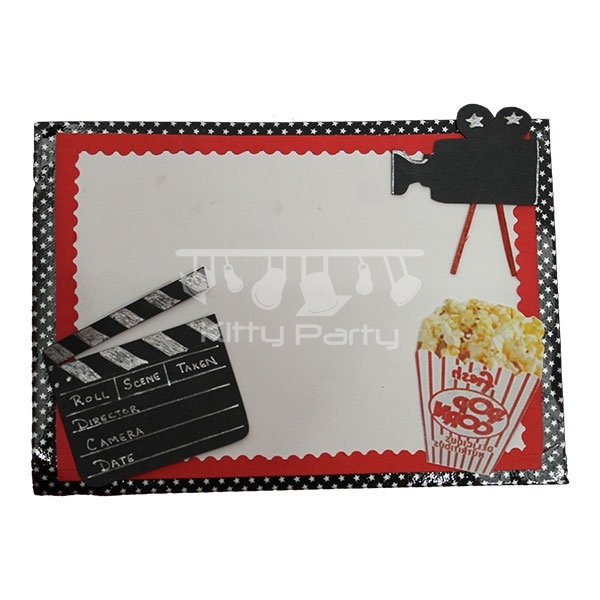 Bollywood Popcorns Camera Invitation Card Kittypartyy Com