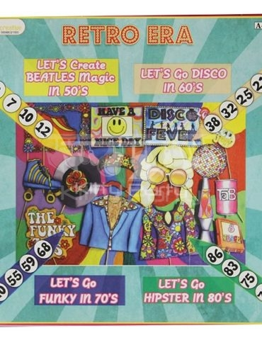 Retro Era Tambola Tickets (Let's Go To 70's And 80's)