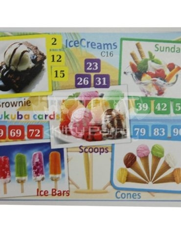 Summer Season Tambola Tickets (Ice-Creams)