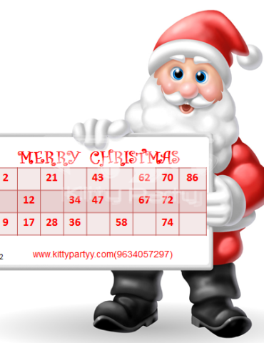 Christmas Tambola Tickets (Santa Clause)