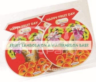 Happy Fruits Day Tambola Tickets