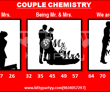 Couple Chemistry Tambola Tickets