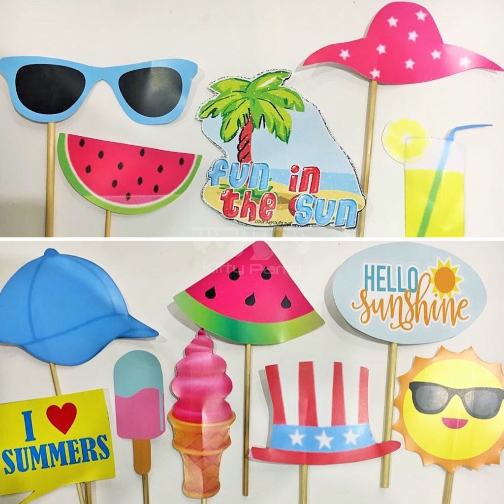 Summer And Pool Party Stick Props Kittypartyy Com