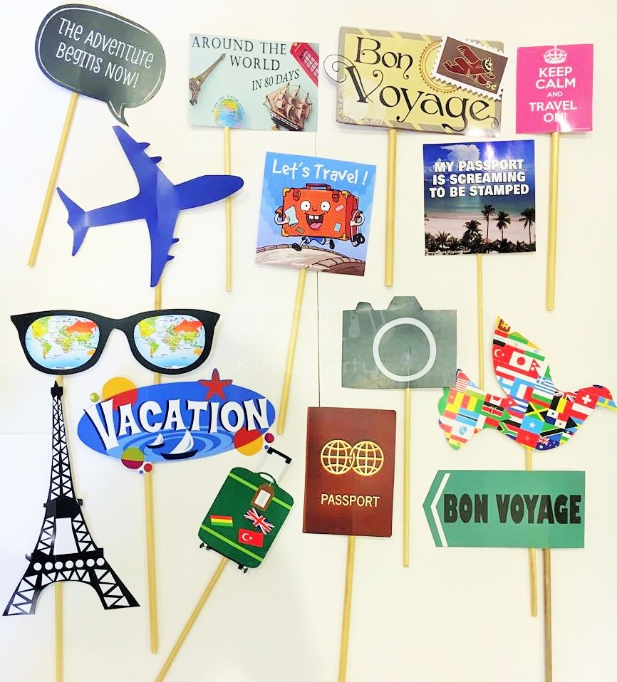 Around The World Theme Stick Props Kittypartyy Com