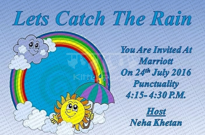 Monsoon theme party invitation kittypartyy monsoon theme party invitation stopboris Images