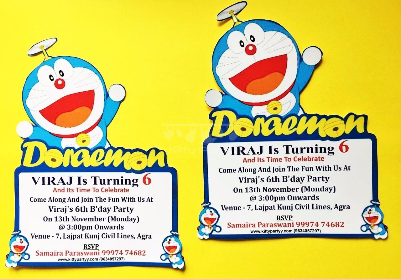 Doraemon card invitation kittypartyy doraemon card invitation homeshopkitty themesbirthday party stopboris Gallery