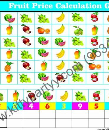 Happy Fruits Day Kitty Party Theme