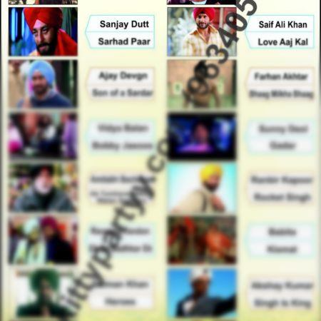 Guess The Actors And Movie Names Paper Game