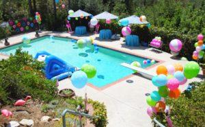Kitty pool party theme