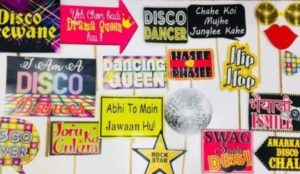 Bollywood theme party decoration