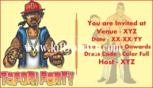 Tapori theme party invitation