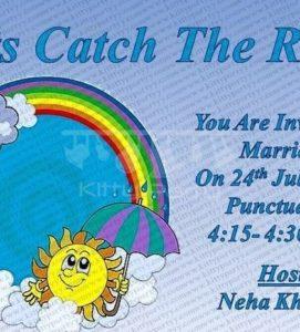 Monsoon theme kitty party invitation