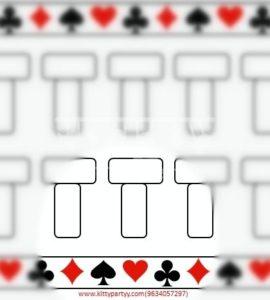 Casino paper game